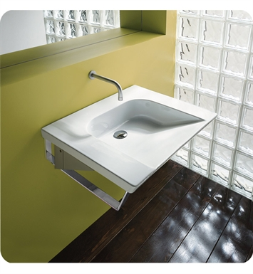 Catalano 1LAHN00-3 Verso Comfort 70 Single Washbasin Wall-Hung With Faucet Holes: Three Holes