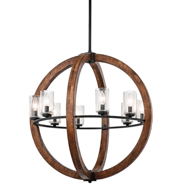 Kichler 43190AUB Grand Bank Collection Chandelier 8 Light in Auburn Stained Finish