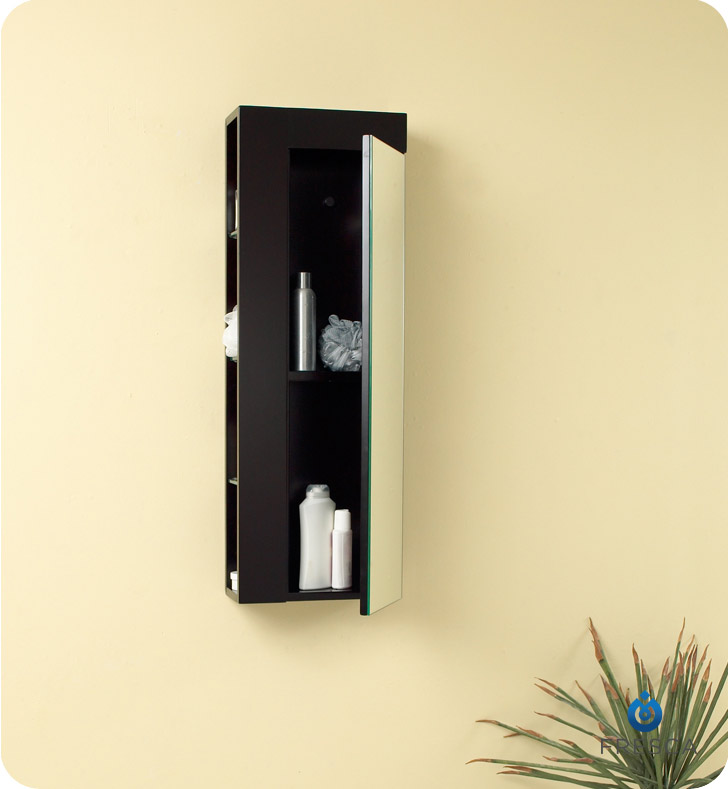 Your Cart - Fresca FST1024ES Espresso Bathroom Linen Side Cabinet With Large