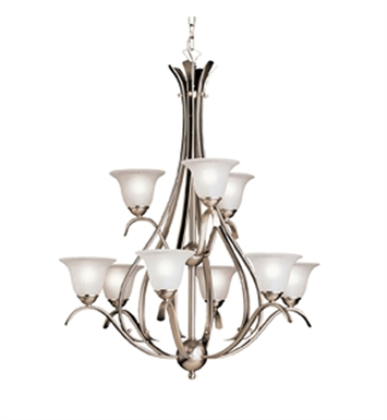 Kichler 2520TZ Dover Collection Chandelier 9 Light With Finish: Tannery Bronze