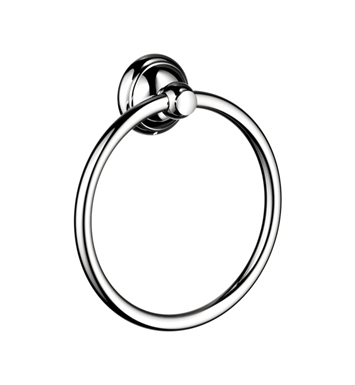 Hansgrohe 06095820 C Towel Ring With Finish: Brushed Nickel