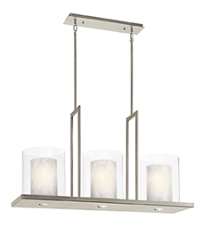 Kichler Triad Collection Chandelier Linear 3 Light in Classic Pewter