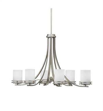 Kichler 1673NI Hendrik Collection Chandelier 6 Light With Finish: Brushed Nickel