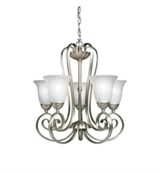 Kichler Willowmore Collection Chandelier 5 Light in Brushed Nickel