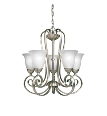 Kichler 1827NI Willowmore Collection Chandelier 5 Light With Finish: Brushed Nickel