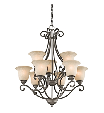 Kichler 43226OZ Camerena Collection Chandelier 9 Light NI in Olde Bronze