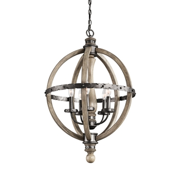 Kichler 43324DAG Lara Collection Chandelier 6 Light in SCP