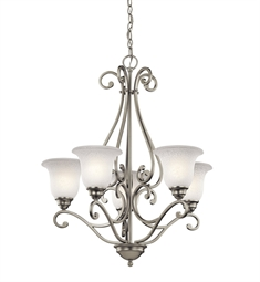 Kichler Camerena Collection Chandelier 5 Light in Brushed Nickel