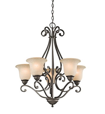 Kichler 43224OZ Camerena Collection Chandelier 5 Light in Olde Bronze