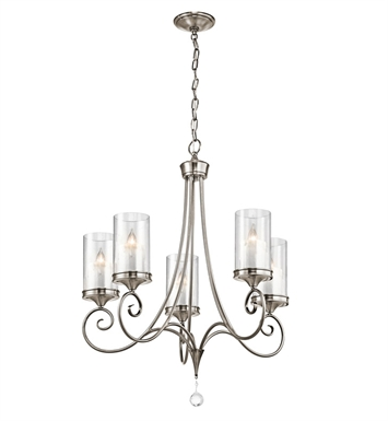Kichler 42861CLP Lara Collection Chandelier 5 Light in Classic Pewter