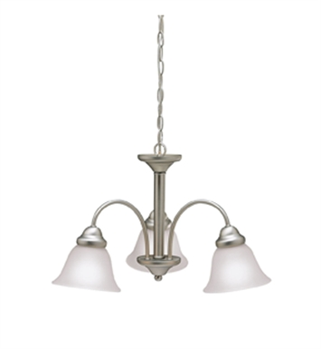 Kichler 3293NI Wynberg Collection Chandelier 3 Light in Brushed Nickel