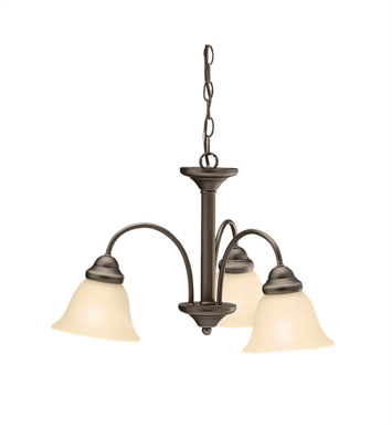 Kichler 3293OZU Wynberg Collection Chandelier 3 Light in Olde Bronze