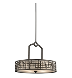 Kichler Loom Collection Chandelier/ Pendant 4 Light in Olde Bronze