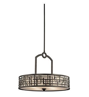 Kichler 43047OZ Loom Collection Chandelier/ Pendant 4 Light in Olde Bronze