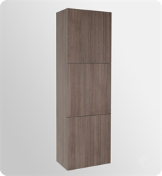 Fresca FST8090GO Gray Oak Bathroom Linen Side Cabinet with 3 Large Storage Areas