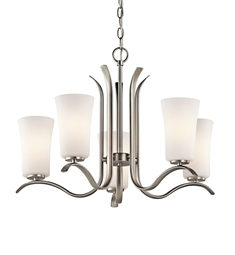 Kichler Armida Collection Chandelier 5 Light in Brushed Nickel
