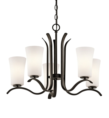 Kichler 43074OZ Armida Collection Chandelier 5 Light in Olde Bronze
