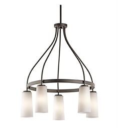 Kichler Whitley Collection Chandelier 5 Light in Olde Bronze