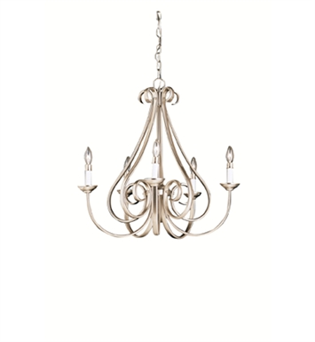 Kichler 2021NI Dover Collection Chandelier 5 Light in Brushed Nickel