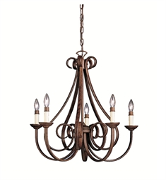 Kichler 2021TZ Dover Collection Chandelier 5 Light in Tannery Bronze