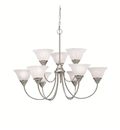 Kichler Telford Collection Chandelier 9 Light in Brushed Nickel