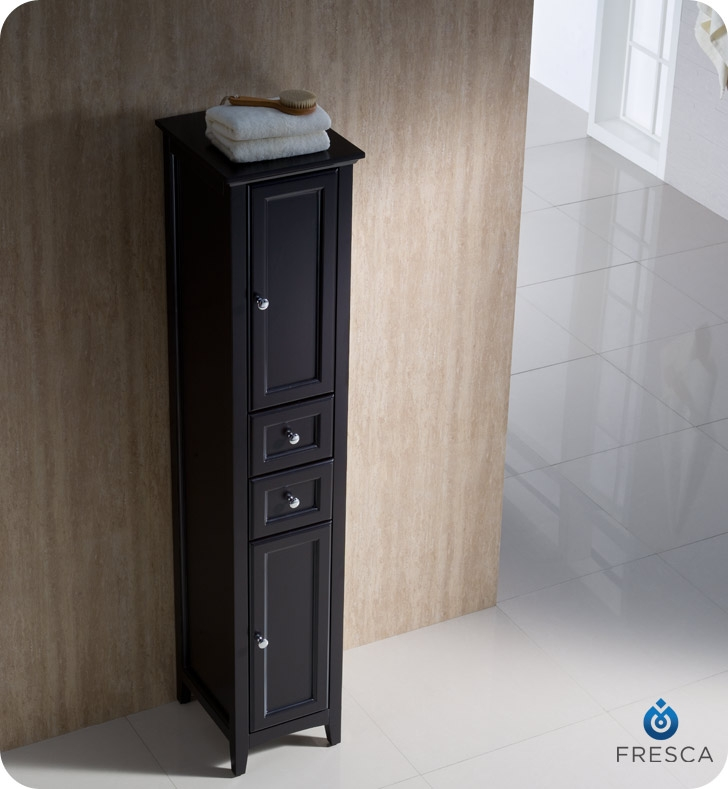 fresca fst2060es oxford espresso tall bathroom linen cabinet