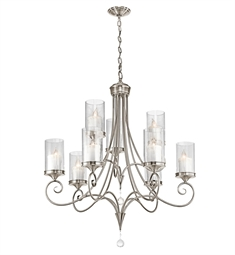 Kichler Lara Collection Chandelier 9 Light in Classic Pewter