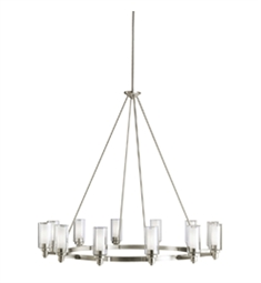 Kichler Circolo Collection Chandelier 12 Light in Brushed Nickel