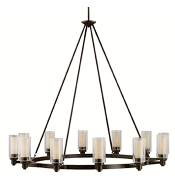 Kichler 2347OZ Circolo Collection Chandelier 12 Light in Olde Bronze