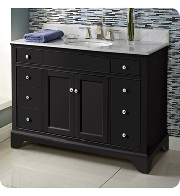 "Fairmont Designs 1508-V48 Framingham 48"" Modern Bathroom Vanity in Obsidian"