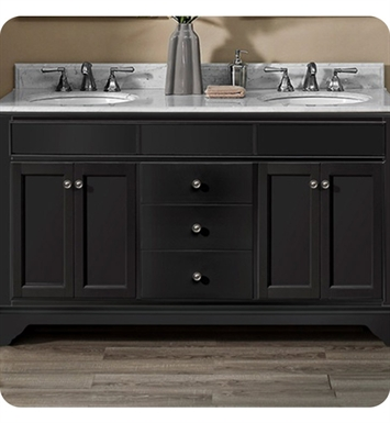Fairmont Designs 1508-V6021D Framingham 60 inch Double Bowl Vanity in Obsidian