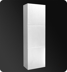 fresca fst8090wh white bathroom linen side cabinet with 3 large storage areas