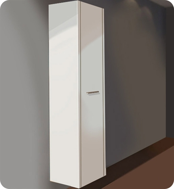 Duravit 2F9156R6565 2nd Floor Tall Cabinet With Finish: Bleached Oak - Real Wood Veneer And Cabinet Hinge: Right Side Hinge