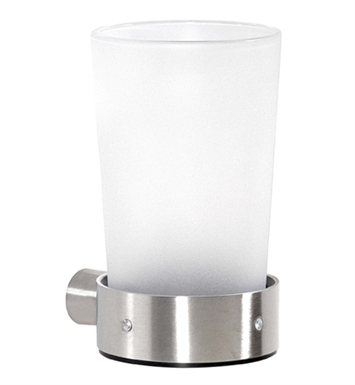 Cool Lines CSM105 Crystal Steel Wall Tumbler in Satin Stainless Steel