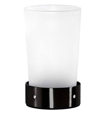 Cool Lines CSB107 Crystal Steel Counter Top Tumbler in Black Stainless Steel