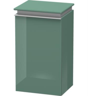 "Duravit DN1270L2914 Darling New 27 3/4"" Wall Mount Semi-Tall Linen Cabinet with Two Glass Shelves With Body Finish: Terra And Sensor Switch: Left Sensor Switch And Front and Countertop Finish: Azure"