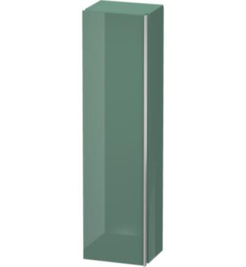 "Duravit DN1272L1514 Darling New 60 5/8"" Wall Mount Tall Linen Cabinet with Two Glass Shelves and One Wooden Shelf With Body Finish: Terra And Sensor Switch: Left Sensor Switch And Front and Countertop Finish: Spring"