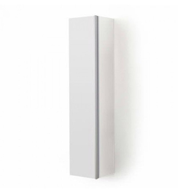 Duravit DN1274R3118 Darling New Tall Linen Cabinet With Cabinet Hinge: Right Side Hinge And Body Finish: White Matt And Front Finish: Pine Silver