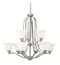 Kichler Chandelier 9 Light in Brushed Nickel