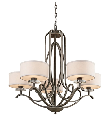 Kichler 42476OZ Chandelier 5 Light in Olde Bronze