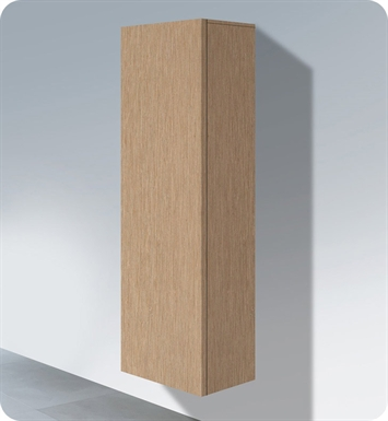 Duravit DL1291L1212 Delos Tall Cabinet With Finish: Brushed Oak And Cabinet Hinge: Left Side Hinge
