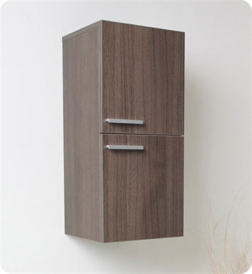 Fresca FST8091GO Gray Oak Bathroom Linen Side Cabinet with 2 Storage Areas