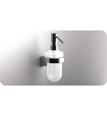 SONIA 54610026 S3 Wall Mounted Soap Dispenser in Glass/Chrome