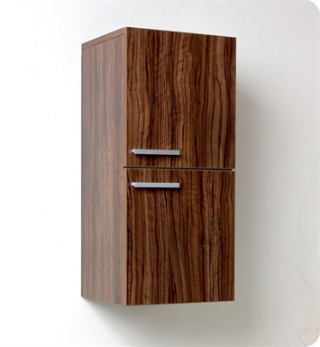 Fresca FST8091GW Walnut Bathroom Linen Side Cabinet with 2 Storage Areas