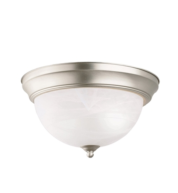Kichler 8108NI Flush Mount 2 Light in Brushed Nickel