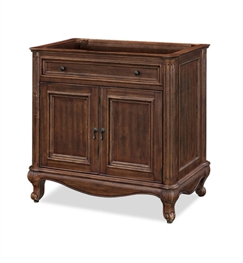 "Ryvyr V-MALAGO-36DM MALAGO 36"" Antique Bathroom Vanity in Distressed Maple Finish"