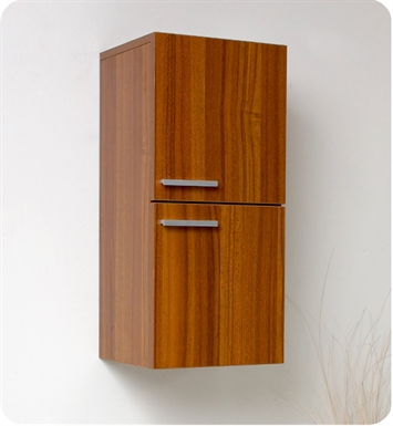 Fresca FST8091TK Teak Bathroom Linen Side Cabinet with 2 Storage Areas