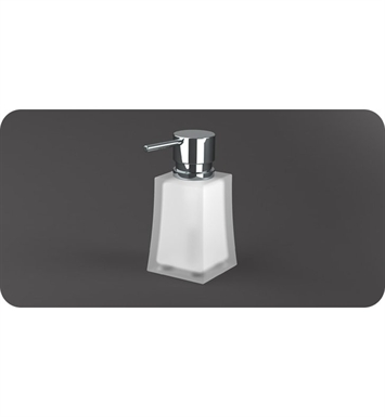 SONIA 55620026 S7 Wall Mounted Soap Dispenser in Glass/Chrome
