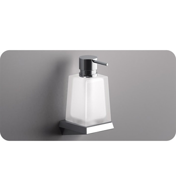 SONIA 161836 S8 Wall Mount Soap Dispenser in Glass/Chrome