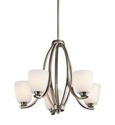 Kichler Granby Collection Chandelier 5 Light in Brushed Pewter